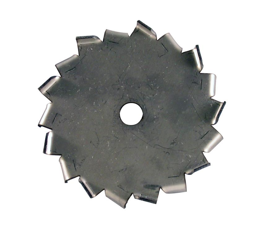 "3"" Dia. X 1/2"" Center Hole Type A 304 SS Dispersion Blade"