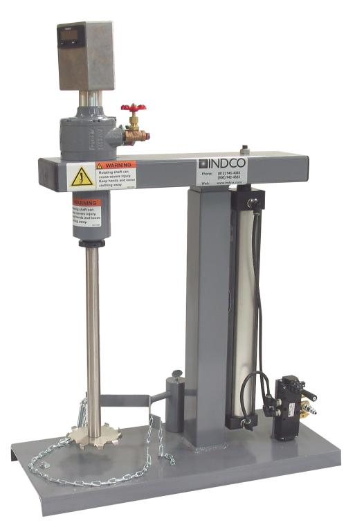 1-1/2 HP Air Disperser with Tachometer and Benchtop Base Image
