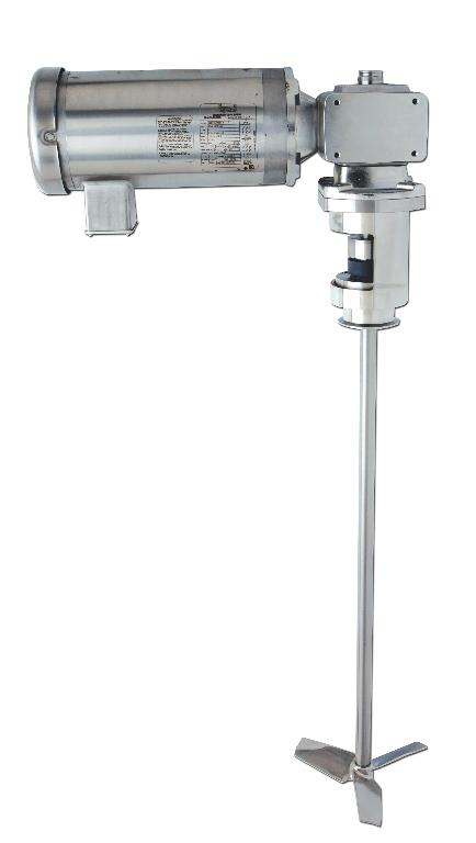 "1 HP Electric 4"" Tri-Clamp® Mount Gear-Drive Sanitary Mixer with External Mechanical Seal Image"